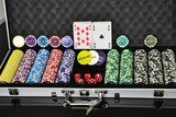 Luxe Casino Pokerkoffer Zilver Pokerset 500 Chips_