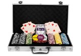 Luxe Casino Pokerkoffer Zilver Pokerset 300 Chips_