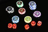 Luxe Professionele Casino Pokerkoffer Complete Pokerset 600 Chips +_