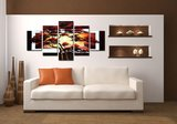 Canvasdoek 5-Delig Abstract K 160x80 cm_