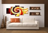 Canvasdoek 5-Delig Abstract Q 160x80 cm_