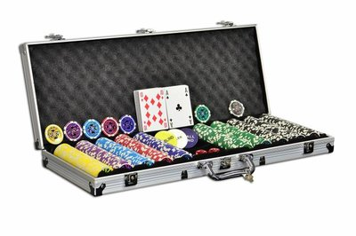 Luxe Casino Pokerkoffer Zilver Pokerset 500 Chips