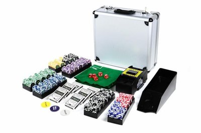 Luxe Professionele Casino Pokerkoffer Complete Pokerset 600 Chips +